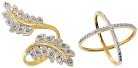 Aabhu Fancy Combo of 2 Party Wear Finger Rings Jewellery For Women And Girls