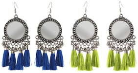 Aabhu Fashionable Fashionable Fancy Party Wear Regular Combo of 2 Pair Earrings