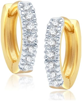 Aabhu Sparkling Top Quality CZ Designer Gold Plated Tops Bali Hoop Earrings Jewellery For Women And Girls