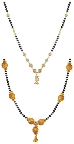 Aabhu Stylish Combo of 2 Amercian Diamond Mangalsutra Jewellery Set for Women
