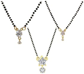 Aabhu Stylish Combo of Mangalsutra Pendant with Chain Jewellery for Women