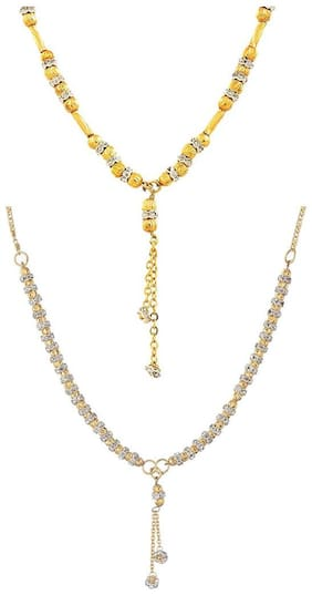 Aabhu Traditional Combo of 2 Amercian Diamond Mangalsutra Jewellery Set for Women