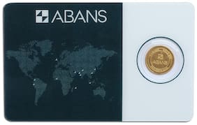 ABANS GOLD COIN LAKSHMI AND FLOWER 2g 24KT(995)