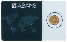 ABANS GOLD COIN GANPATI  AND ABANS 2g 24KT(995)
