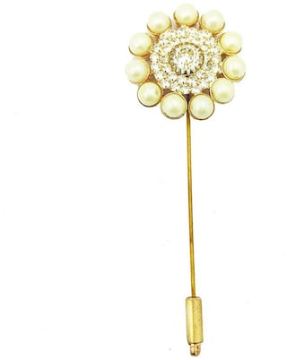 AccessHer Metal Flower Lapel Pins/Brooches for Women