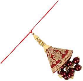 Accessorisingg Rakshabandhan 2019 Gold and Pink Thread Cutwork Tassel Lumba for Bhabhi [RLB026]
