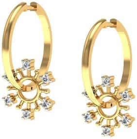 AG JEWELLERY AVSAR JEWELLERY Real Gold and Diamond Rajstan Earrings AVE168