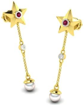 AG JEWELLERY AVSAR JEWELLERY Real Gold and Diamond Krutika Earring AVE17YA