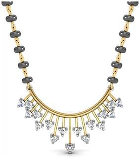 AG JEWELLERY AVSAR JEWELLERY Real Gold and Diamond Panaji Mangalsuta AVM013