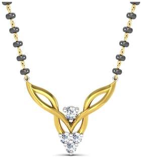 AG JEWELLERY AVSAR JEWELLERY Real Gold and Diamond Kanika Pendant TAP004A