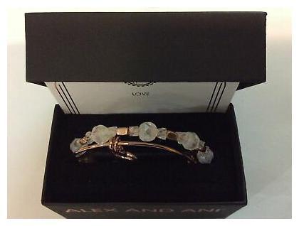 Alex and Ani Handwritten Heart Set of 2 Bangle Bracelets Shiny Rose NWTBC