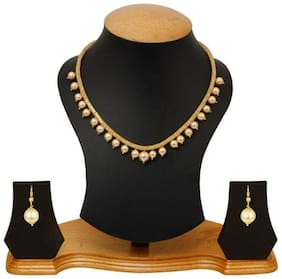 Alloy Golden Collar Traditional Gold Plated Necklaces Set