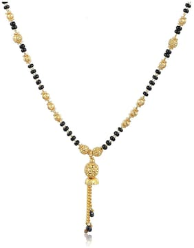 Antic Immitation Art Black Gold Plated Mangalsutra for Women (AA008)