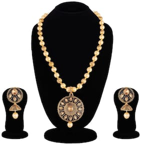 Apara Jaipur Black Meenakari Necklace/ Jewellery Set for Women