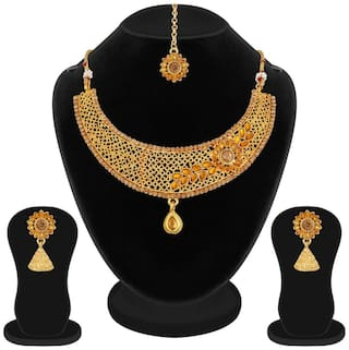 Apara Shimmering Gold Plated LCT Stones and Kundan Wedding Jewellery for women