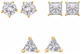 Archi Collection Pack of CZ Earrings for Women