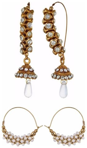 Archi Collection Combo Of 2 Trendy Earrings