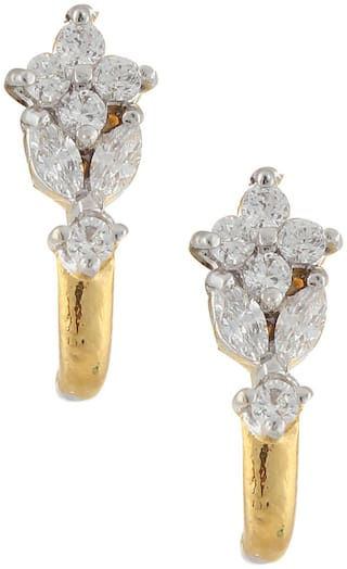 Archi Collection Golden And Silver Earrings