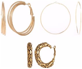 Archi Collection Combo Of 3 Trendy Earrings