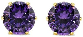 Archi Collection Purple Earrings