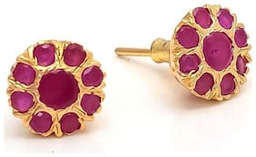 Archi Red Stone Earrings