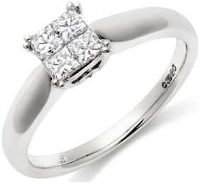 Asset Jewels Silver Real Diamond Ring For Girls/ Women