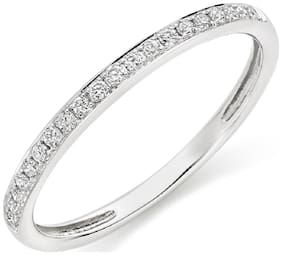Asset Jewels Silver Real Diamond Ring/ Band for Girls/ Women