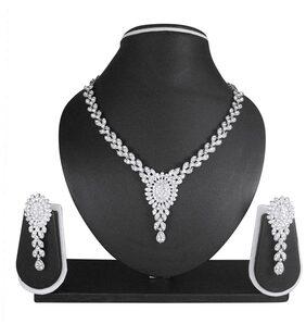 Atasi International White Necklace Set