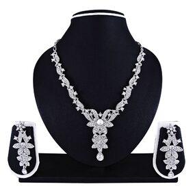 Atasi International Silver Bridal Senorita Necklace Set
