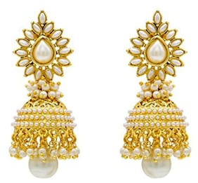 Bandish White Multipearl Earrings