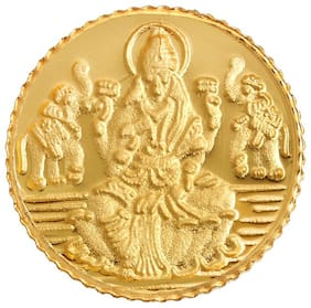 Bangalore Refinery 1 g 24kt 999 Purity Lakshmi Gold Coin