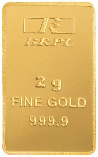 Bangalore Refinery 2 g 24kt 999.9 Purity Gold Bar