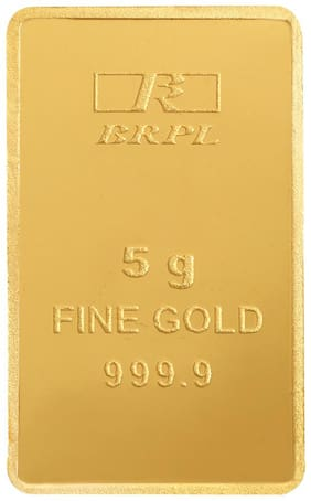 Bangalore Refinery 5 Gram 24kt 999.9 Purity Gold Bar