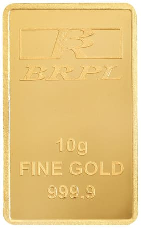 Bangalore Refinery 10 Gram 24kt 999.9 Purity Gold Bar