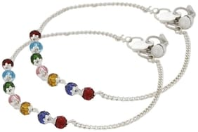 Beadworks MultiColor Anklet (Pack of 2)