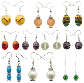 Beadworks Multi Color Set of 10 Earrings