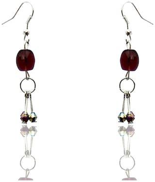 Beadworks Purple Earrings