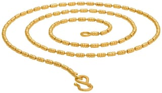 Beadworks Solid Gold Plated Chain in Brass Material