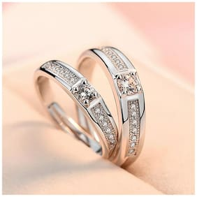 Beautiful Proposal Valentine Gift & Couple Rings for Lovers Adjustable Size in King & Queen  design for Boy & Girl