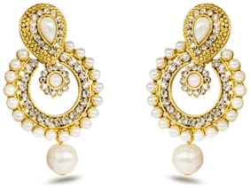 Three Shades Beautiful Alloy Jhumki Earring for Girls Inspired by Ramleela