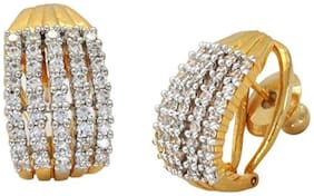 Bhagya Lakshmi Gold & Silver Gold Plated Stud Earrings Jewellery For Women and Girl