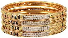 Bhagya Lakshmi Traditional Gold Plated Bangles for Girls and Women