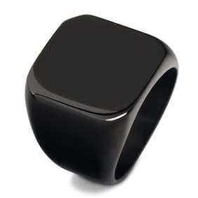 Black custom jewelry Square Stainless Steel Ring mens titanium ring