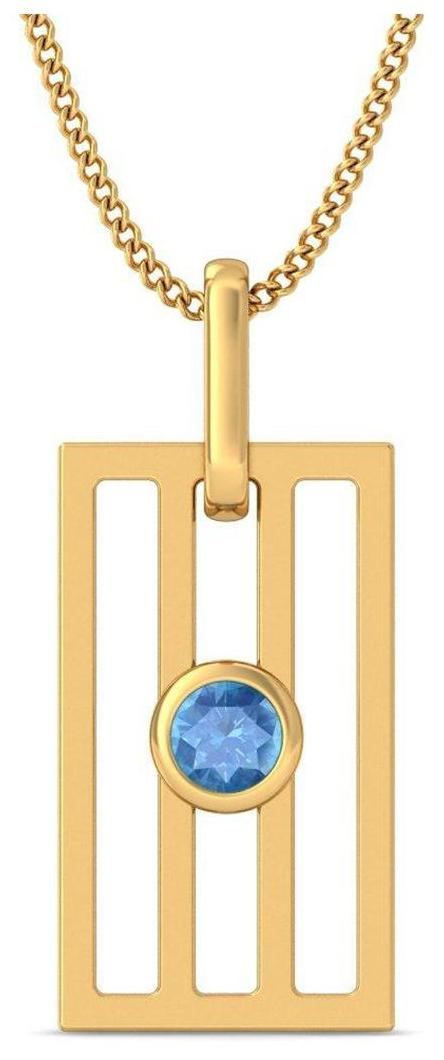 BlueStone 14Kt Yellow Gold and Topaz  Freedom Pendant