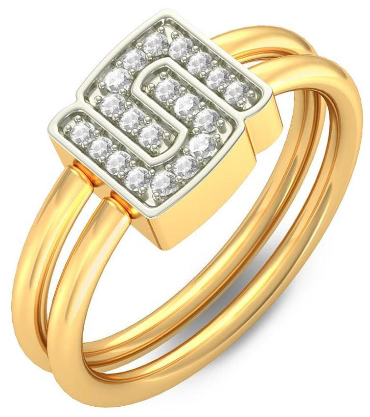 BlueStone 18Kt Yellow Gold and Diamond Everlasting Bond Ring