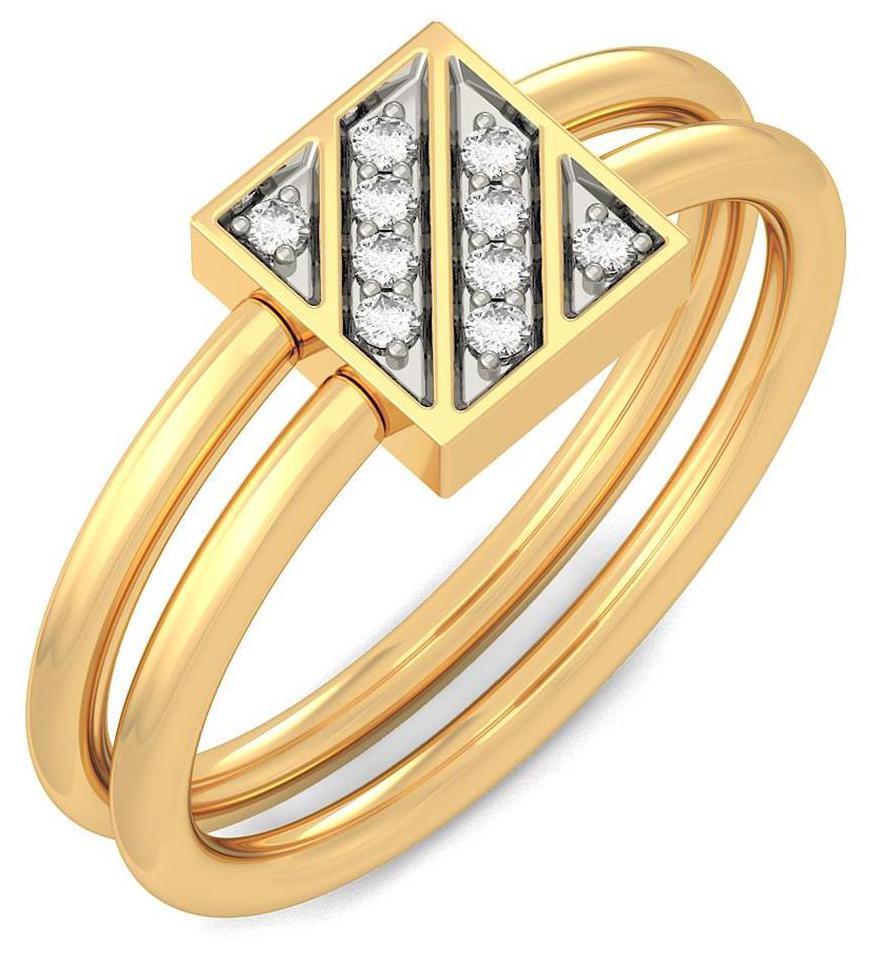 BlueStone 18Kt Yellow Gold and Diamond Timeless Bond Ring