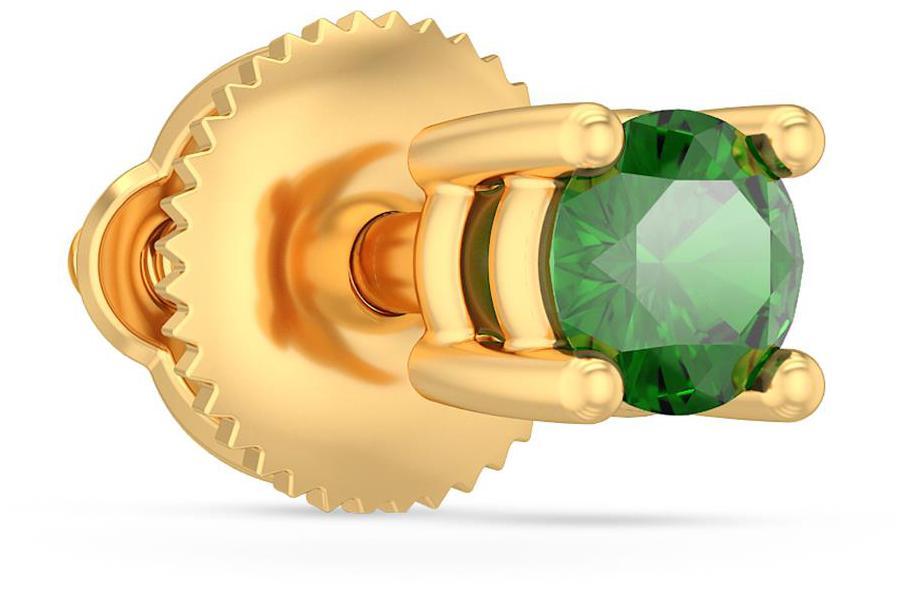 BlueStone 18Kt Yellow Gold and Emerald  Alicio Stud For Him