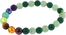 Brahmatells Green Aventurine And Green Jade Bracelet For Men & Women