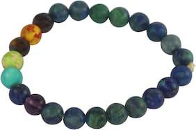 Brahmatells Chrysocolla Bracelet With 7 Chakra For Men & Women
