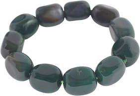 Brahmatells Green Jade Tumble Bracelet For Men & Women